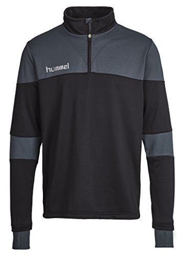 Hummel Herren Sweatshirt SIRIUS HALF ZIP SWEAT, Black/Dark Slate, XL, 33-281-1078