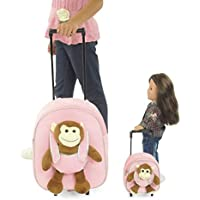 18 Inch Doll Rolling Luggage | Child & Doll Matching