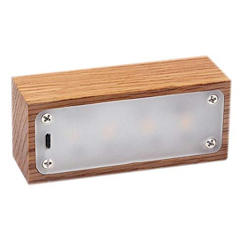 CUHAWUDBA Magnetisches Licht Nacht Licht H?Lzern Verdunkelnde Nachtlampe Augen Schutz Schreibtisch Lampe USB Lampe WC Licht Haus Dekoration Zubeh?R Geschenk Hell Holzmaserung