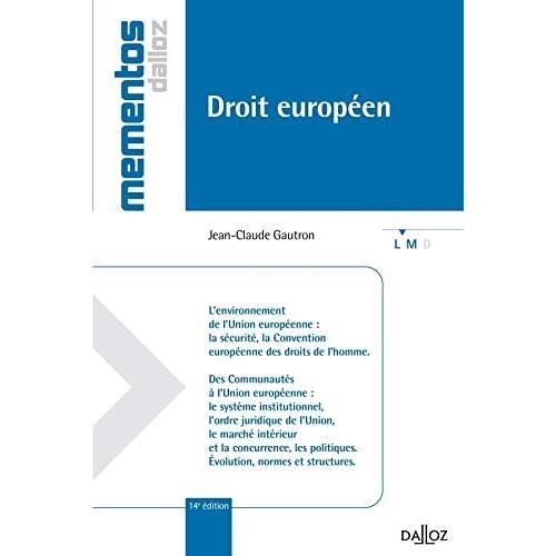 Droit européen - 14e éd.: Mémentos
