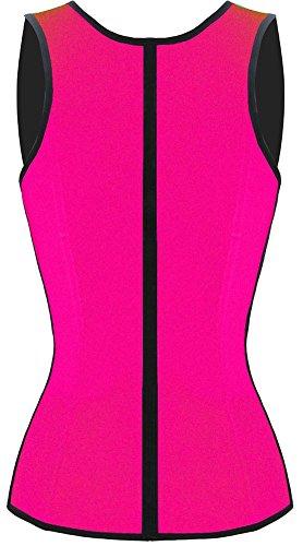 JerrisApparel donne lattice vita corsetto shapewear di Cincher della vita disossato acciaio roseo