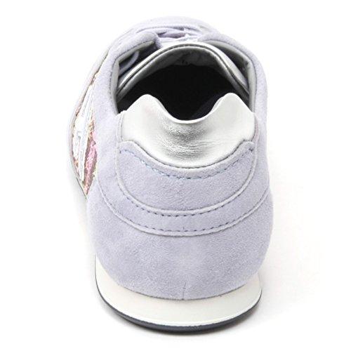 B4737 sneaker donna HOGAN OLYMPIA scarpa lilla paillettes multicolore shoe woman Lilla