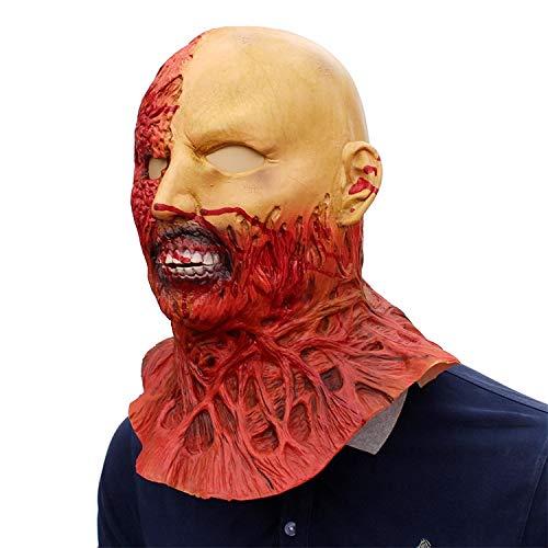 VAWAA Maske Halloween Erwachsene Zombie Maske Latex Blutig Beängstigend Extrem Ekelhaft Full Face Maske Kostüm Party Cosplay - Kostüm Darkman