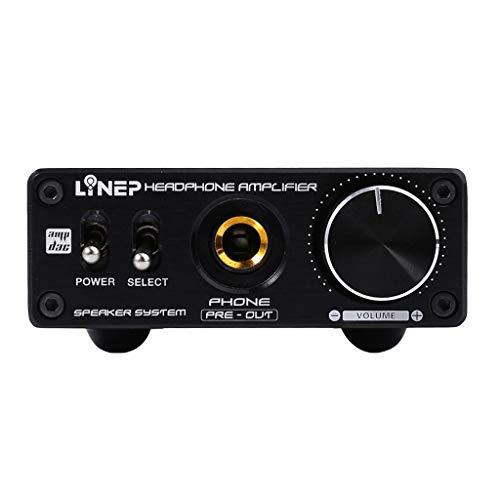 perfk Headphone Amplifier Stereo Amp HiFi Schwarz