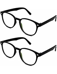 Stacle Full Rim Round Unisex Spectacle Frame (ST8003 49 Combo Pack of 2)