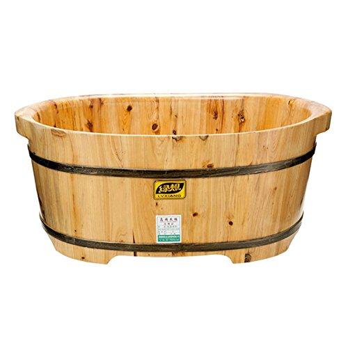 Holz Baby-Badewanne Doppelholzbecken Cedar Fußbad Spa zu Hause Holzfass