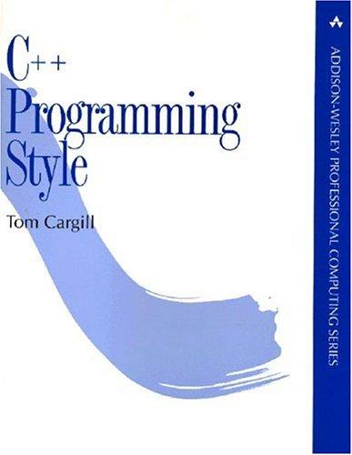 c-plusplus-programming-style-addison-wesley-professional-computing-paperback
