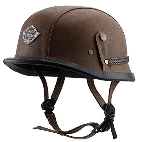 Adulto mezza faccia moto casco leggero Camouflage colore moto casco uomini donne universale anti caduta retrò Harley casco del motociclo