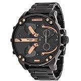Herrenuhr Quarz Casual Uhr Mode Stahlgürtel Uhr Kalender Echte Streifen Armbanduhr - Batterie enthalten (Schwarz)