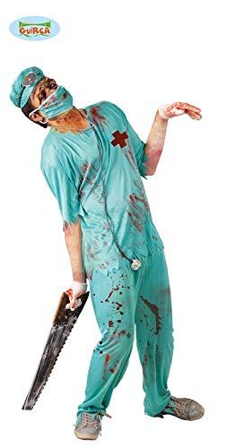 Zombie Chirurg Arzt Kostüm für Herren Gr. M/L, Größe:M