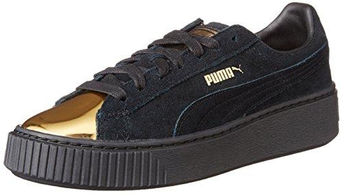 Puma Suede Platform Gold 36222202, Scarpe sportive, 002 gold - black, 38