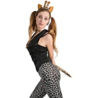 Kostüme Kostümpakete Giraffen Kostüm Set Giraffe Kostümset Giraffenohren Giraffenschwanz Tierkostüm