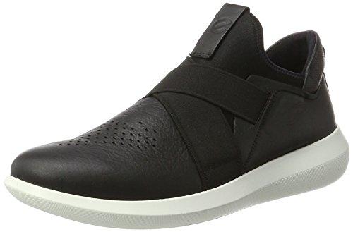 Ecco Herren SCINAPSE Slip On Sneaker, Schwarz (Black), 44 EU (Ecco Herren Schuhe Slip On Schwarz)
