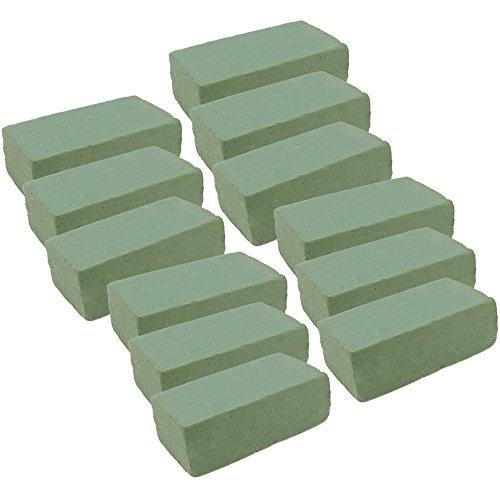 COM-FOUR® 12x Steckmasse, Steckschaum für Frischblumen, 20 x 9,7 x 6,7 cm (012 Stück - Frischblumen)