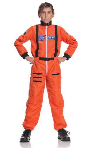 Kostüm Orange Kinder Astronaut (Astronauten Kinder Overall L)