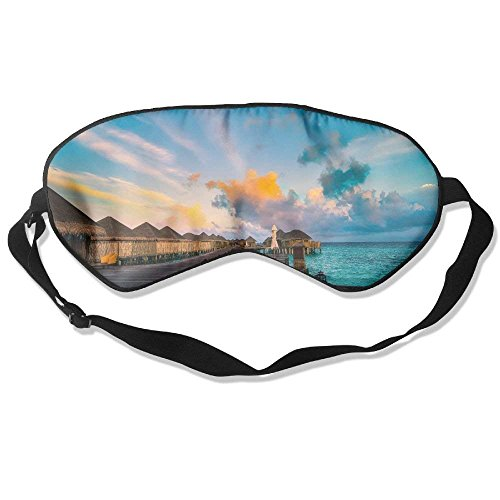 Preisvergleich Produktbild Comfortable Sleep Eyes Masks Swim Pattern Sleeping Mask For Travelling,  Night Noon Nap