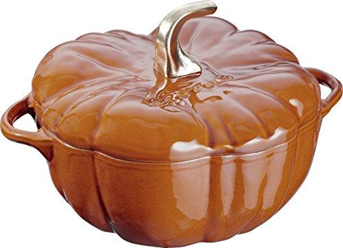 Staub 40511-403-0 Cocotte Citrouille Fonte Cannelle 24 cm