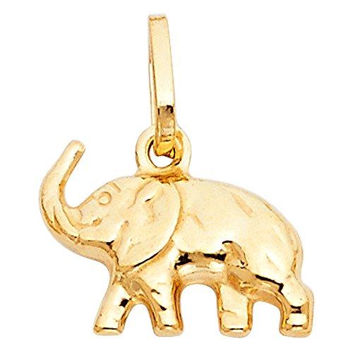 Paradise Jewelers amarillo elefante colgante de oro de las mujeres