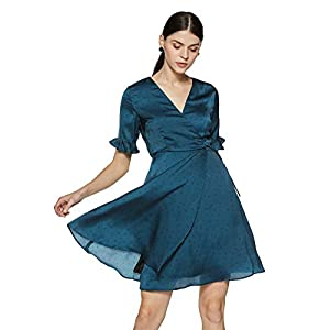 Allen Solly Women's A-Line Knee-Long Dress