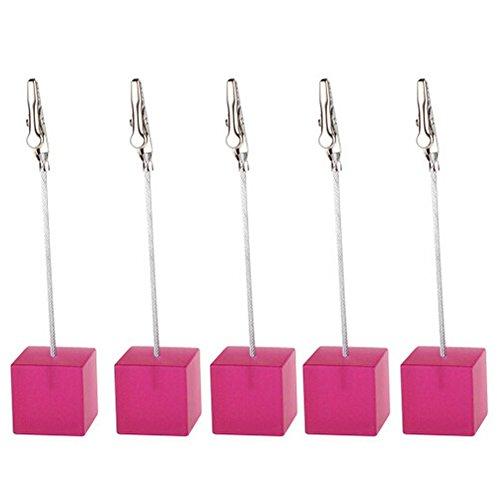 Gemini _ Mall 5Stück Geschirr Tisch Startnummernhalter schwarz-Hochzeit Name Tisch Einstellung Marker, rose, Einheitsgröße (Pink Schwarz-tisch-einstellungen Und)