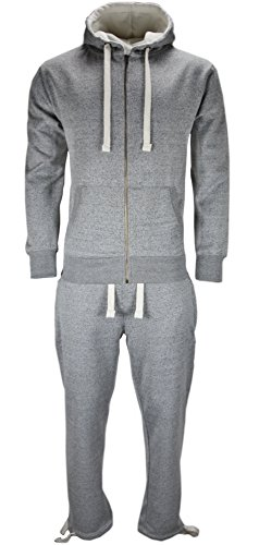 new-mens-full-tracksuit-set-fleece-hoodie-top-bottoms-jogging-joggers-trackies-s-light-grey