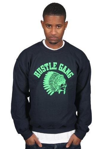 Ulterior Clothing Hustle Gang Green Logo Sweatshirt - Gang Green T-shirt