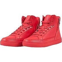 df2443bc013859 ... scarpe rosse uomo alte pelle. Urban Classics - Zipper High Top Shoe,  Sneaker Alte Unisex – Adulto