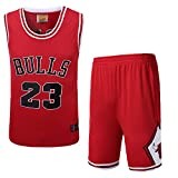 NBA Bulls Michael Jordan No. 23 Trikot Herren Basketball Anzug,B,S