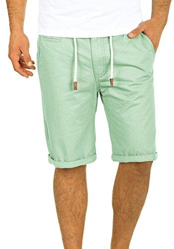 Blend Kaito Herren Chino Shorts Bermuda Kurze Hose Mit Kordel Aus 100% Baumwolle Regular Fit, Größe:XXL, Farbe:Foam Green (77206)