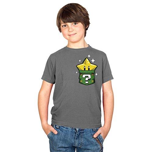 TEXLAB - Star in a Pocket - Kinder T-Shirt, Größe S, grau