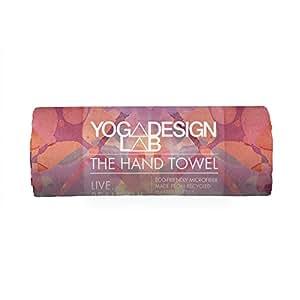 Yoga Design Lab Serviette Visage & Mains de Ultra absorbante, Douce Légère, Écologique, Colorée   Absorbe la Transpiration Pendant Vos entraînements intenses (Kaleidoscope, 38 x 61cm)