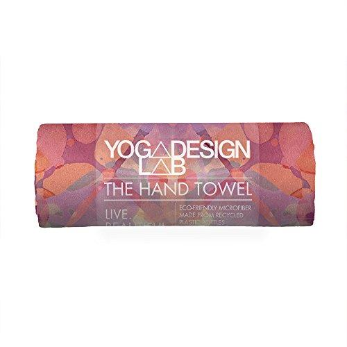 Yoga Design Lab Yoga Handtuch Ökologisches Material| Leichtes, saugfähiges Hand- und Gesichtstuch für Dein schweißtreibendes Training| Waschmaschinenfest, schnelltrocknend (Kaleidoscope)