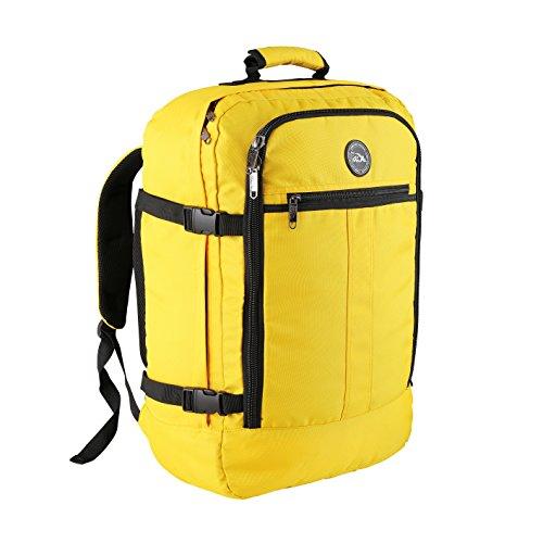 Cabin Max - Sac à dos et bagage à mains pour cabine- capacité brute de 44l… (Hello Yellow)