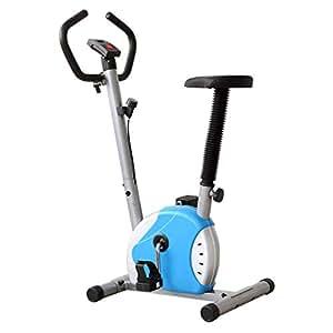 OUTAD Training Exercise BIke Indoor Training Exercise Bike LCD Display Comfortable Sponge Adjustable Height Indoor trainer machine