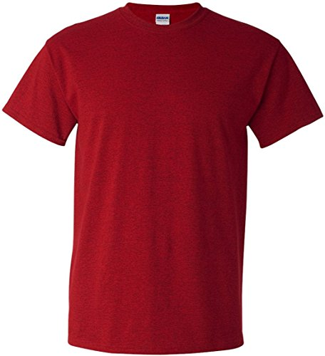 Gildan - Heavy Cotton - Maglietta Manica Corta - Uomo US Large,ANTIQUE CHERRY RED