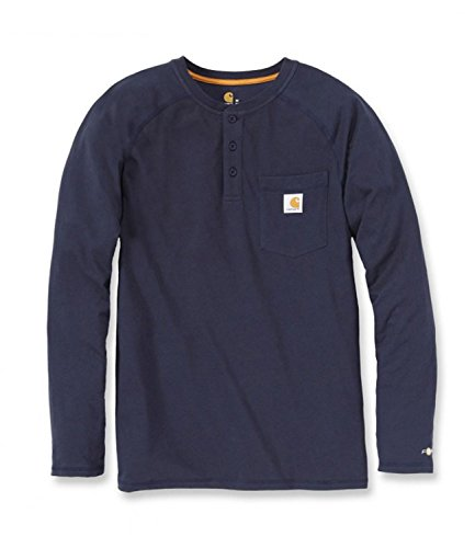 Carhartt T-Shirt Longsleeve Henley Force Cotton Navy