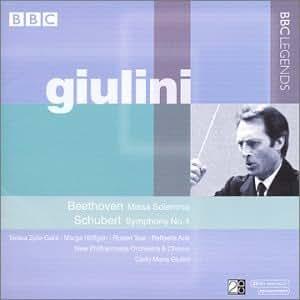 Giulini / Beethoven : Missa Solemnis - Schubert : Symphonie N 4
