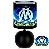 Lampe de chevet DROIT AU BUT - création artisanale type serviettage - FOOT