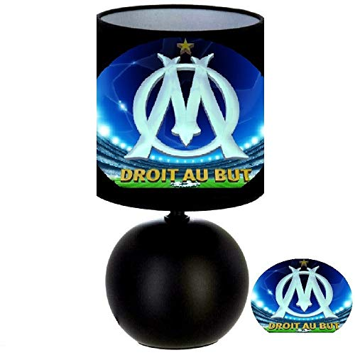 Lampe de chevet FOOT - OM MARSEILLE DROIT AU BUT - création artisanale N° 2 - création artisanale