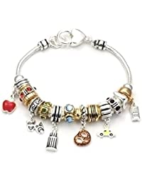 CFG ONLINE Boy and Girl Lovers Charm Bracelet Standard7.5 inches long.