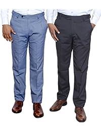 Indistar Combo Offer Mens Formal Trouser (Pack Of 2) - B01JRW63JI