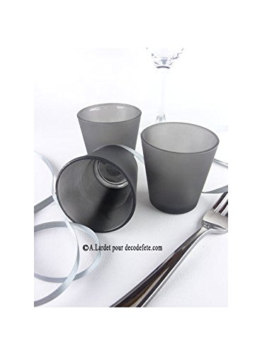 Chaks 0504-21 - Lot de 12 Bougeoirs Vase 6,5cm, ()