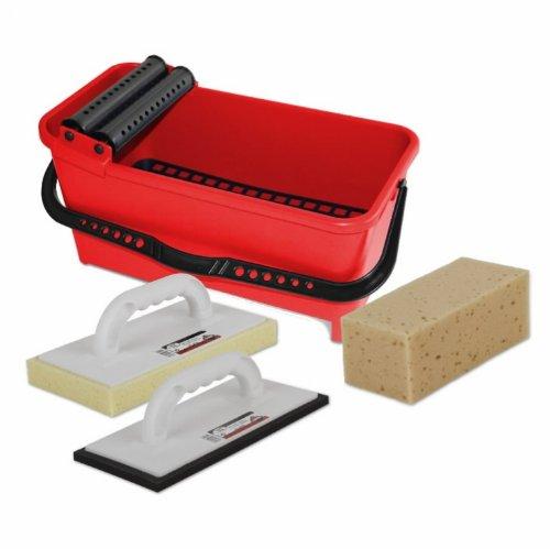 Rubi Kit Rubi Clean Eco Fliesen Waschbox Wascheimer Waschset Rubiclean Set mit Zubehör NEU