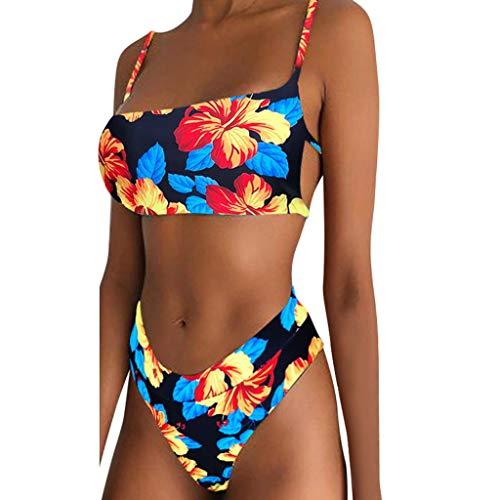 NPRADLA Damen Bikini Set Farbdruck Gepolsterter Push-Up BH Bandage Wassersport Surfing Badeanzug Beachwear 2-teilige Bademode Damen Badeanzug - Handwerk Für Mädchen 11-jährige
