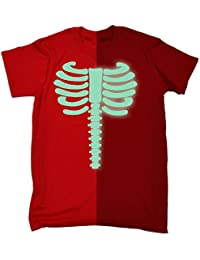 GLOW IN THE DARK SKELETON - NEW PREMIUM T SHIRT (VARIOUS COLOURS) S M L XL 2XL 3XL - by 123t