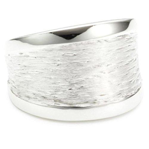 Vinani Ring Rillen massiv gebürstet Seiten glänzend Sterling Silber 925 Größe 52 (16.6) RMG52 - Aus Sterling Größe Silber 3-ring