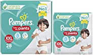 Pampers Diaper Pants, XX-Large, 28 Count & Pampers Diapers Pants, XXL , 16 C