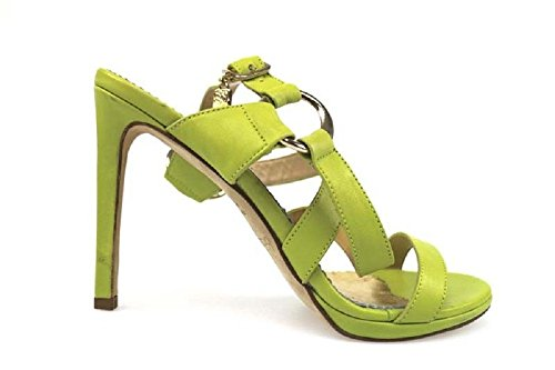 scarpe donna BRACCIALINI 37 sandali verde pelle AP540