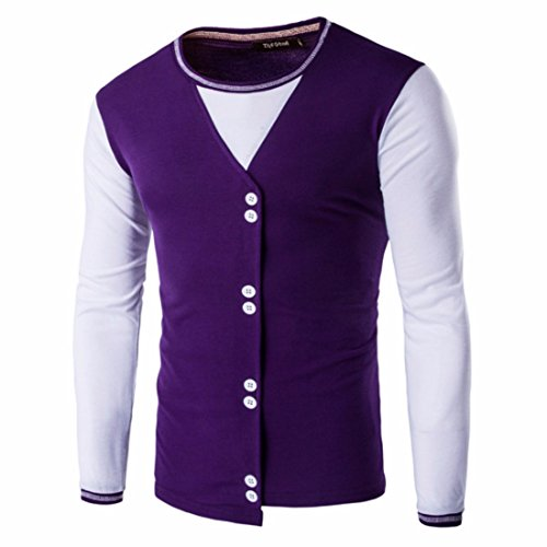 Men's Slim Fit Long Sleeve O Neck Single Casual Sweatshirt Indigo