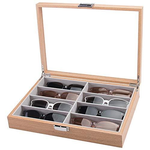 INEP Caja De Almacenamiento De Gafas De Madera Gafas